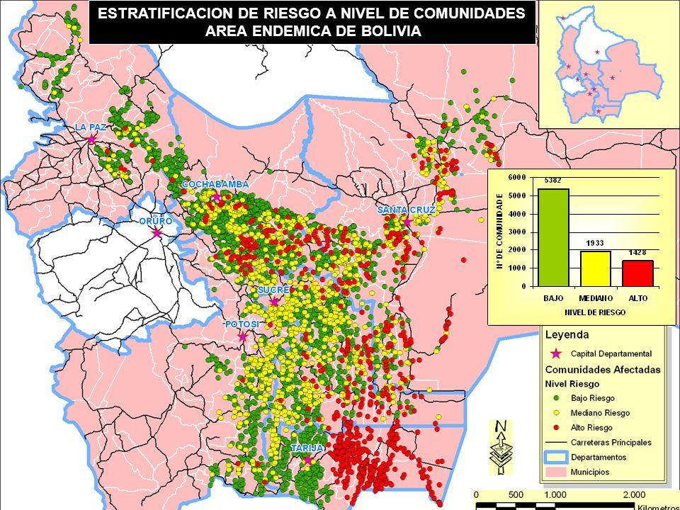 Objetivo General Desarrollar la estrategia integral/Intersectorial, y sostenible de intervención para la promoción, prevención, atención y control de la enfermedad de Chagas en toda el área endémica de Bolivia, que contribuya al desarrollo de la región y mejorar la calidad de vida de sus habitantes.