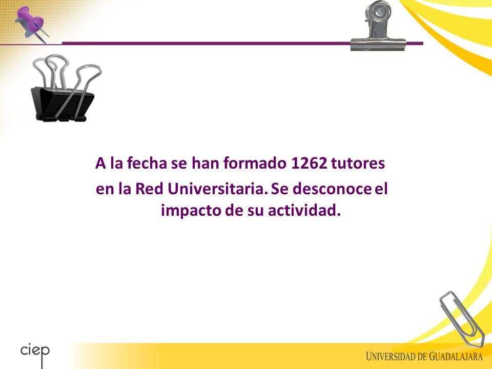 A la fecha se han formado 1262 tutores en la Red Universitaria.