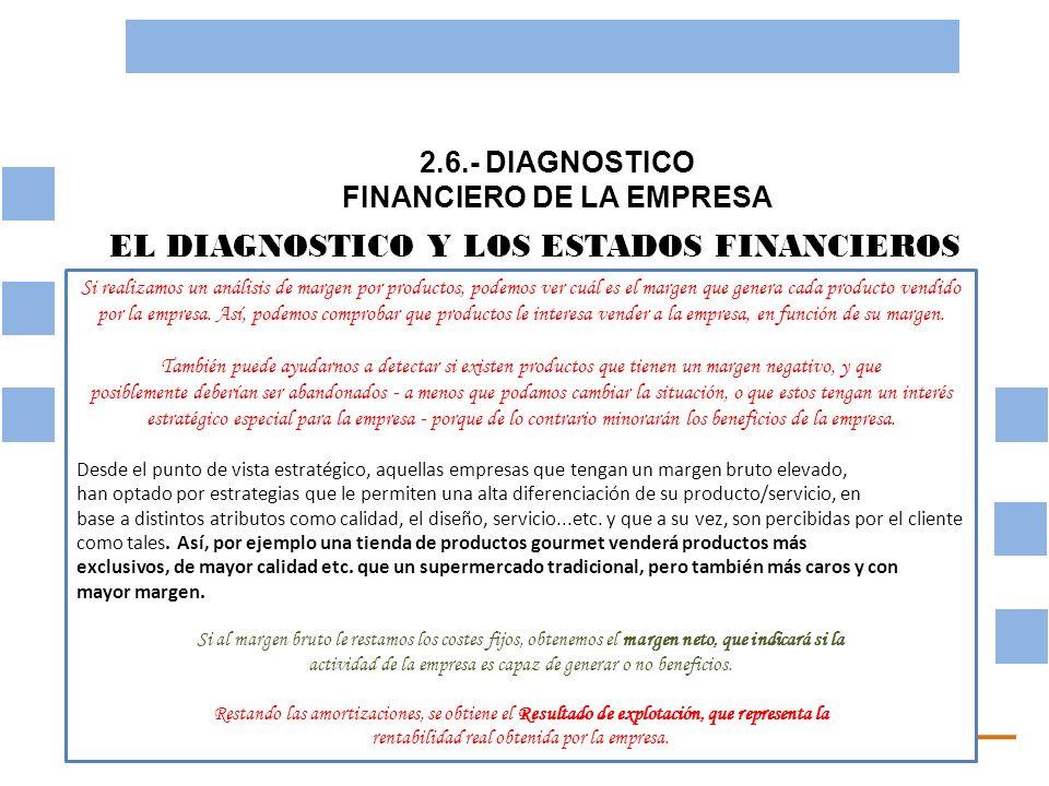 2.6.- DIAGNOSTICO FINANCIERO DE LA EMPRESA OBJETIVO BASICO FINANCIERO LOS INDICES ECONOMICOS FINANCIEROS Uno de los principales instrumentos de análisis financiero son las ratios.