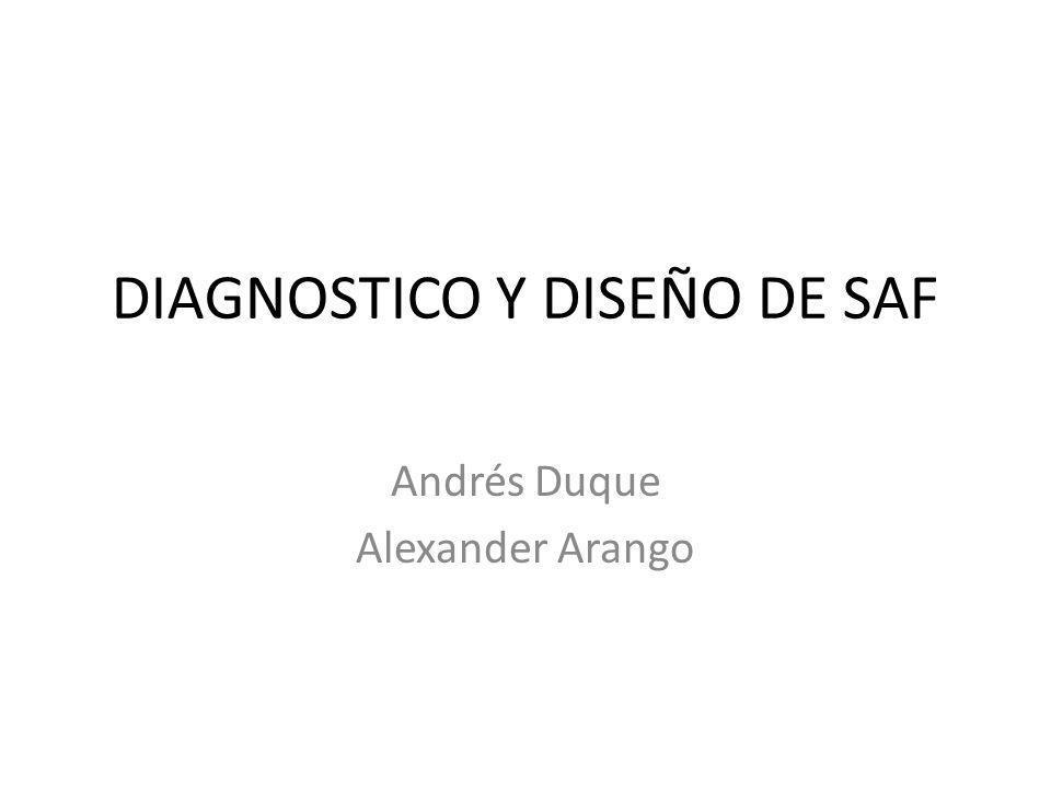 DIAGNOSTICO Y DISEÑO DE SAF Andrés Duque Alexander Arango