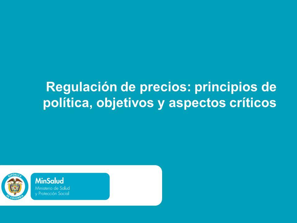 Regulación de precios: principios de política, objetivos y aspectos críticos