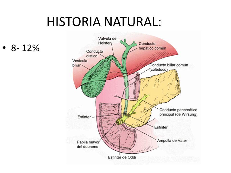HISTORIA NATURAL: 8- 12%