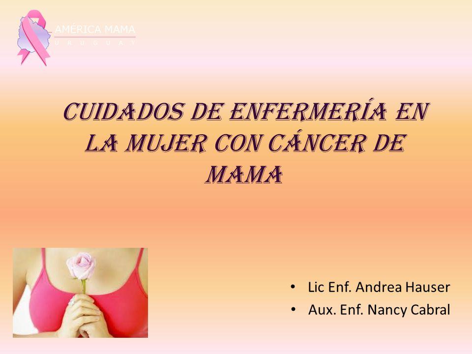 Cuidados de Enfermería en la Mujer con Cáncer de Mama Lic Enf. Andrea Hauser Aux. Enf. Nancy Cabral