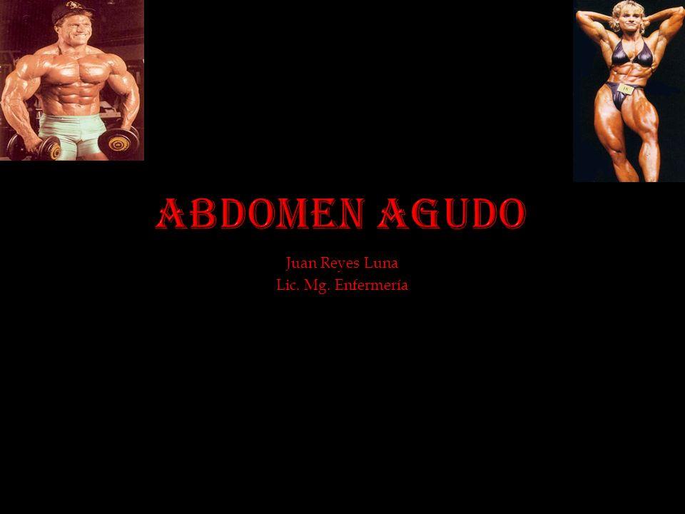 Abdomen agudo (AA) ó cuadro de dolor abdominal .