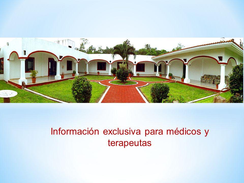 Información exclusiva para médicos y terapeutas