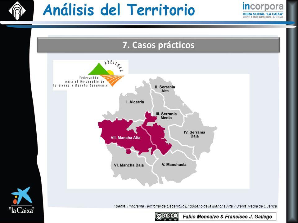 7. Casos prácticos Fuente: Programa Territorial de Desarrollo Endógeno de la Mancha Alta y Sierra Media de Cuenca