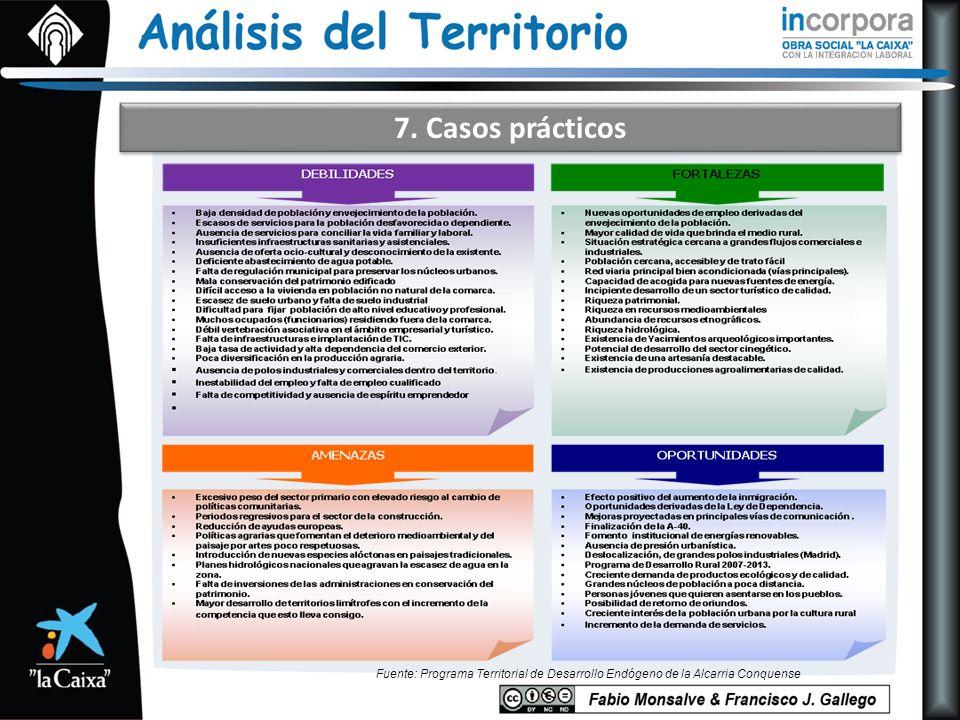 7. Casos prácticos Fuente: Programa Territorial de Desarrollo Endógeno de la Alcarria Conquense