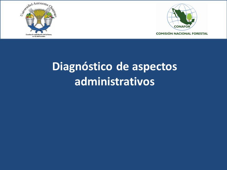 Diagnóstico de aspectos administrativos