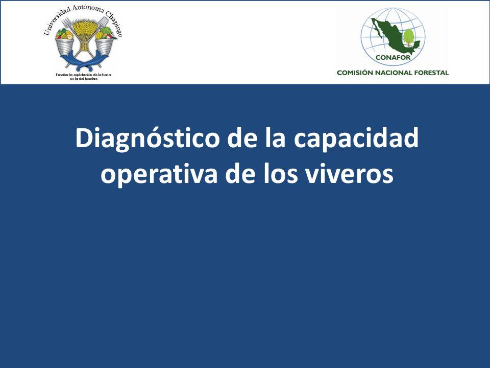 Diagnóstico de la capacidad operativa de los viveros