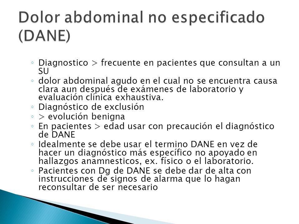 Diagnostico > frecuente en pacientes que consultan a un SU dolor abdominal agudo en el cual no se encuentra causa clara aun después de exámenes de lab