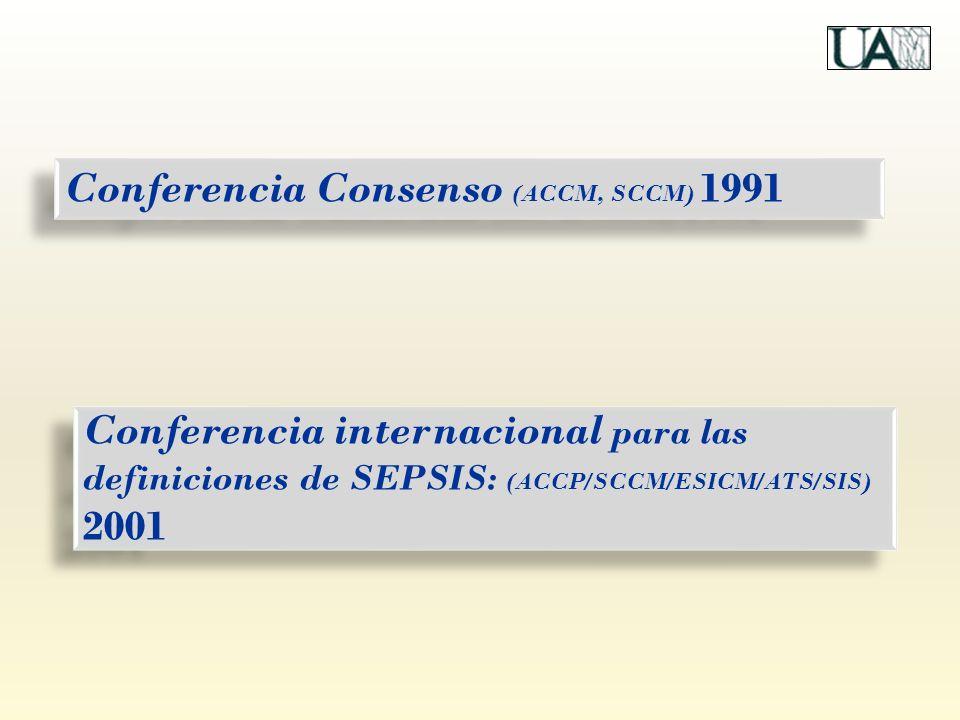 Conferencia internacional para las definiciones de SEPSIS: (ACCP/SCCM/ESICM/ATS/SIS) 2001