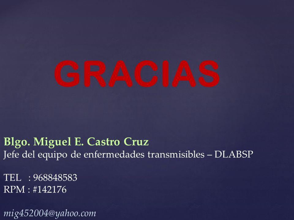 GRACIAS Blgo.Miguel E.