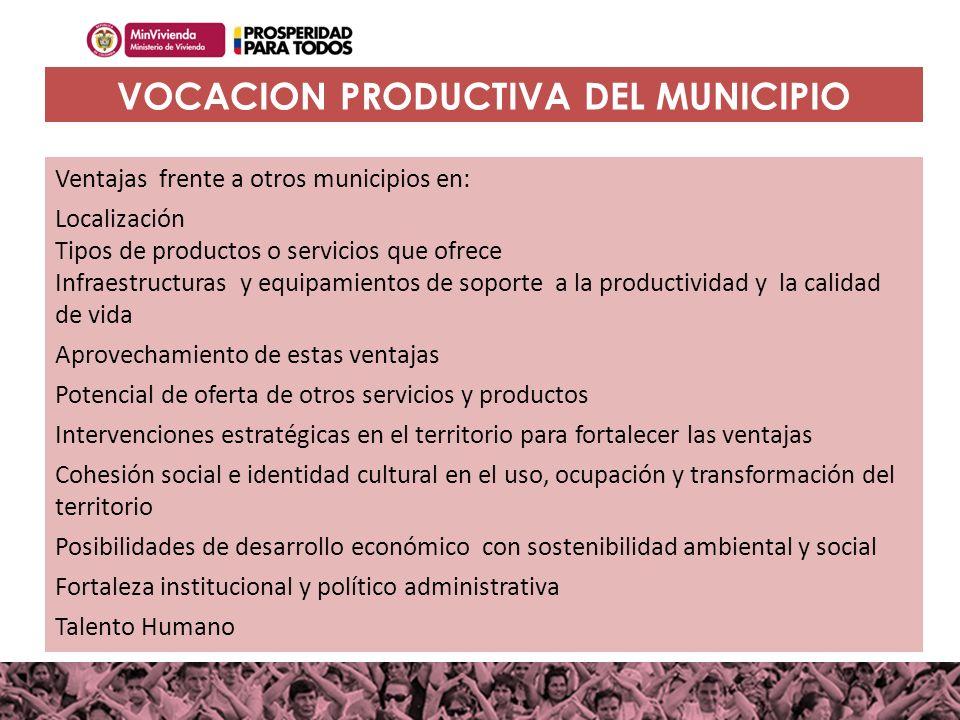 100MILviviendas100MILviviendas Haciendo casas, cambiamos vidas Ventajas frente a otros municipios en: Localización Tipos de productos o servicios que