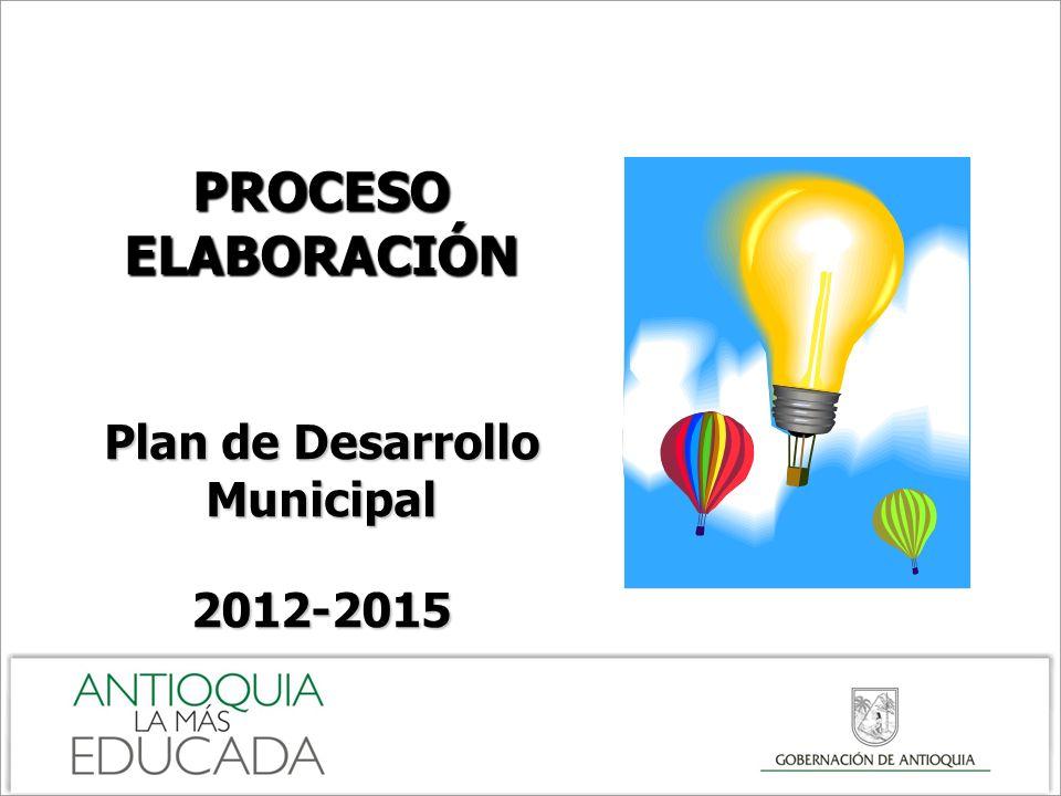 PROCESO ELABORACIÓN Plan de Desarrollo Municipal 2012-2015