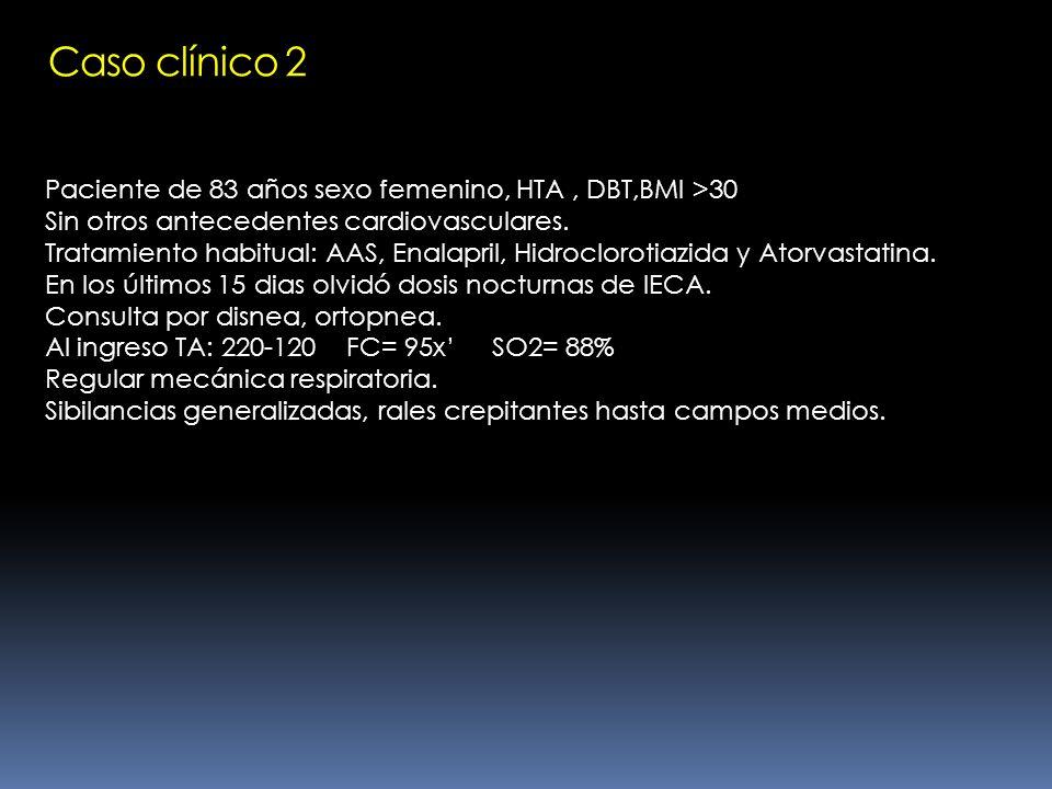 HEMODINAMICAS BAJA FEY VFDI Alto Presiones llenados de VI altas Patrón restrictivo H.T.P.