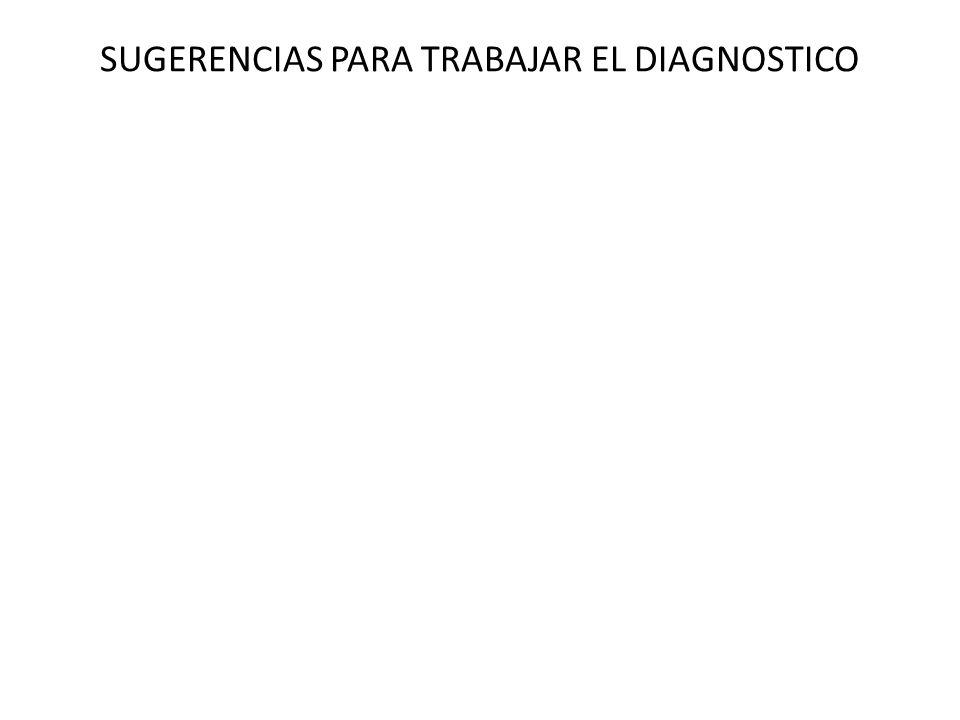 SUGERENCIAS PARA TRABAJAR EL DIAGNOSTICO
