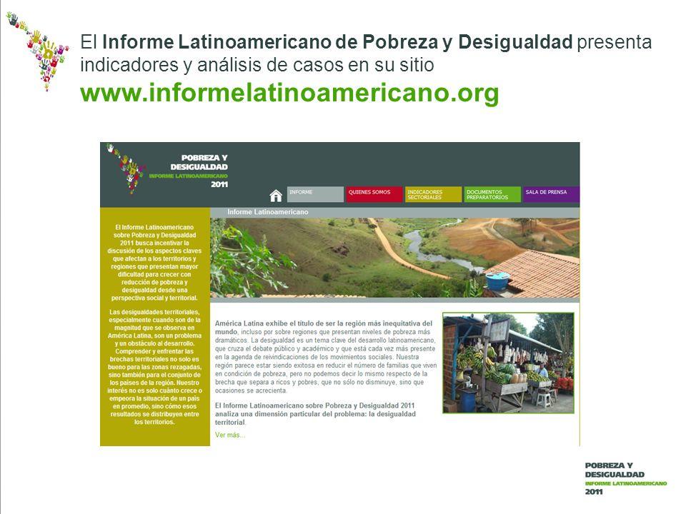 El Informe Latinoamericano de Pobreza y Desigualdad presenta indicadores y análisis de casos en su sitio www.informelatinoamericano.org