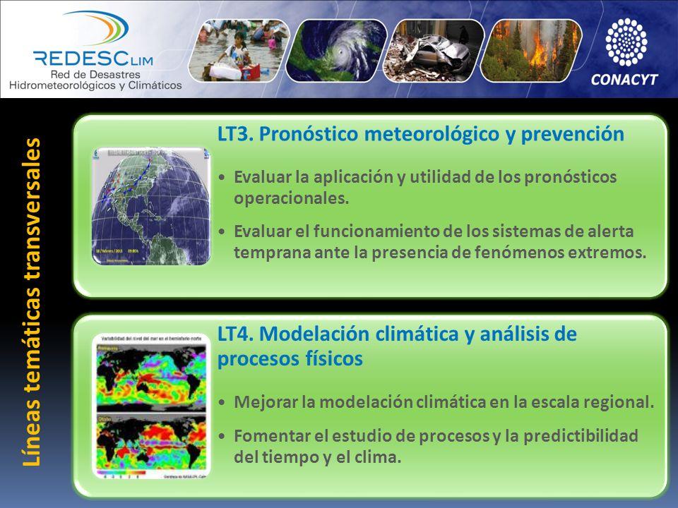 LT3. Pronóstico meteorológico y prevención Evaluar la aplicación y utilidad de los pronósticos operacionales. Evaluar el funcionamiento de los sistema