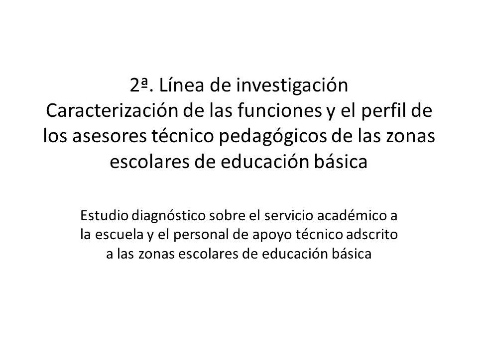 2ª. Línea de investigación Caracterización de las funciones y el perfil de los asesores técnico pedagógicos de las zonas escolares de educación básica