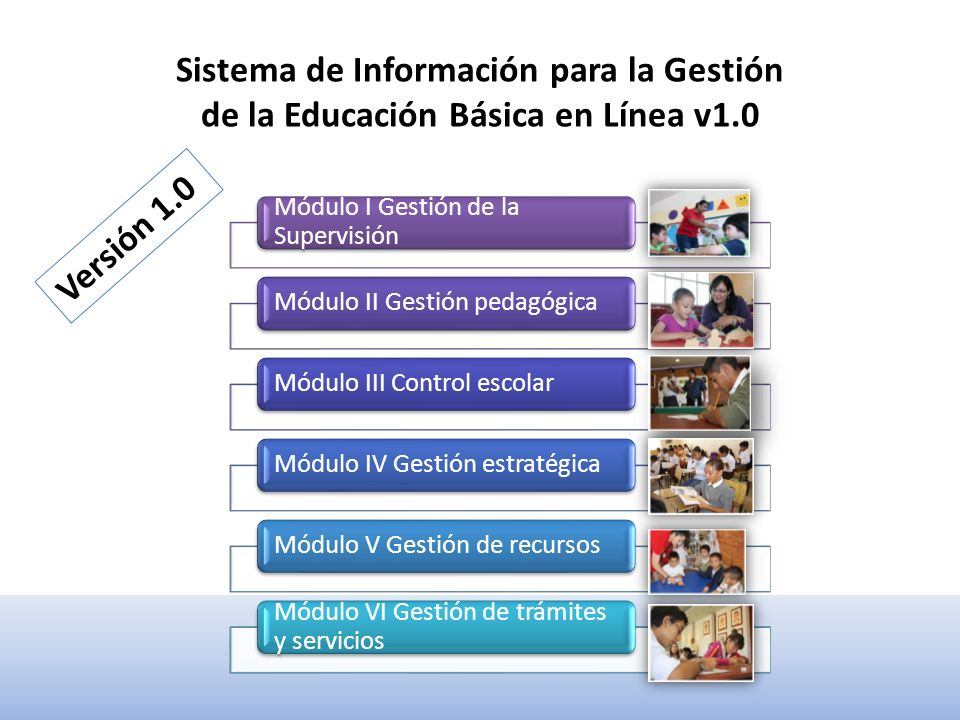 FUNCIONALIDADES Sistema para la Gestión de la Educación Básica en Línea 1.0 7