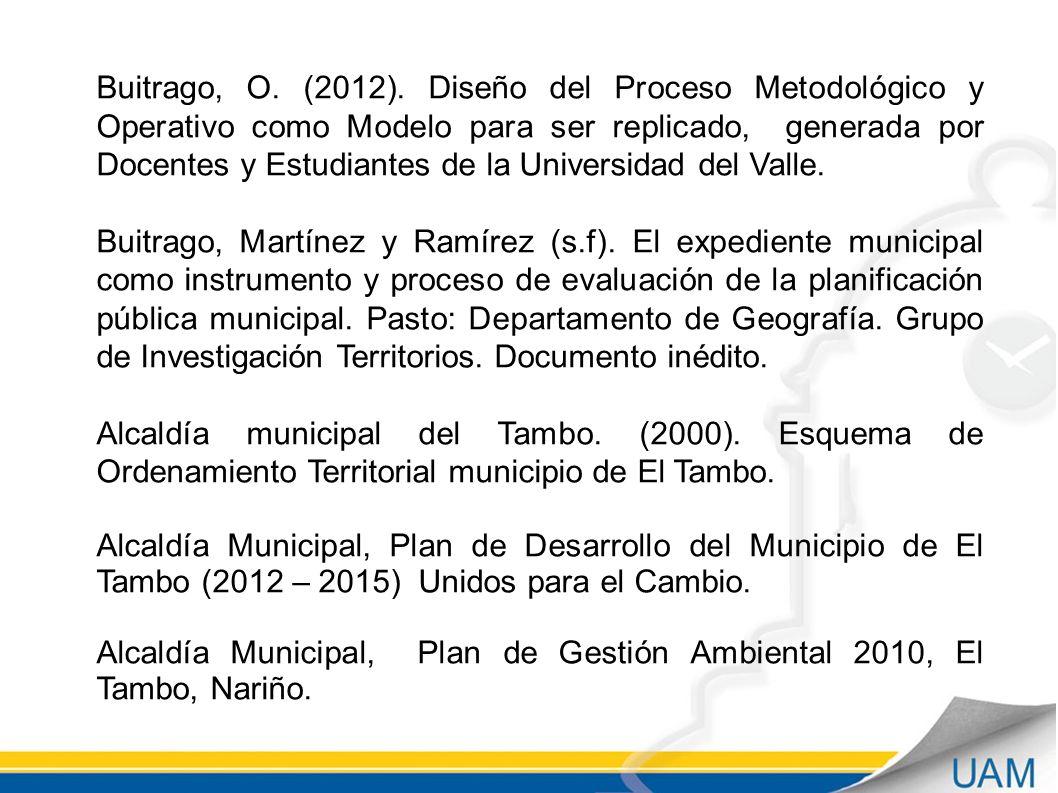 Buitrago, O.(2012).