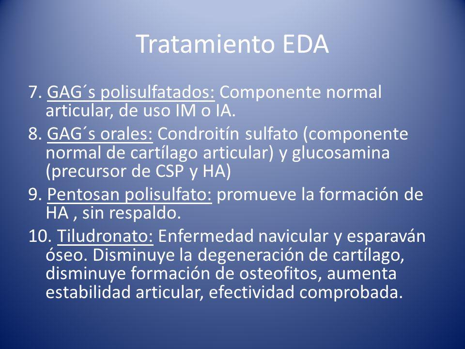 Tratamiento EDA 7.GAG´s polisulfatados: Componente normal articular, de uso IM o IA.
