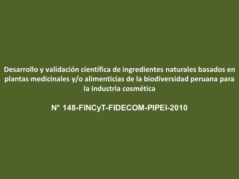 Desarrollo y validación científica de ingredientes naturales basados en plantas medicinales y/o alimenticias de la biodiversidad peruana para la indus