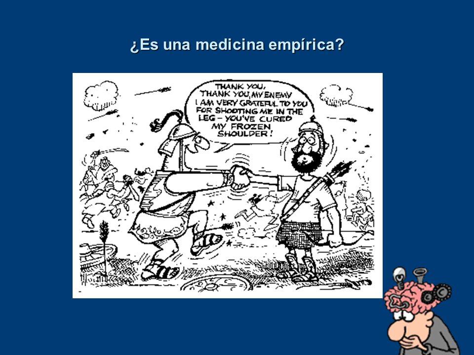 ¿Es una medicina empírica?