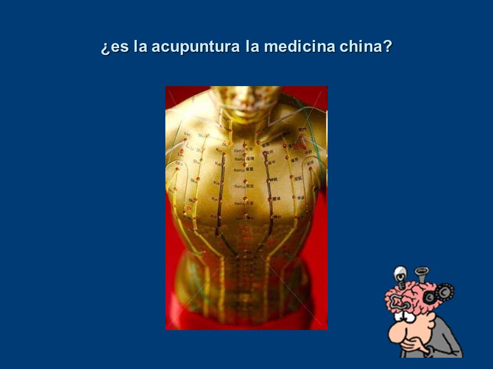 ¿es la acupuntura la medicina china?