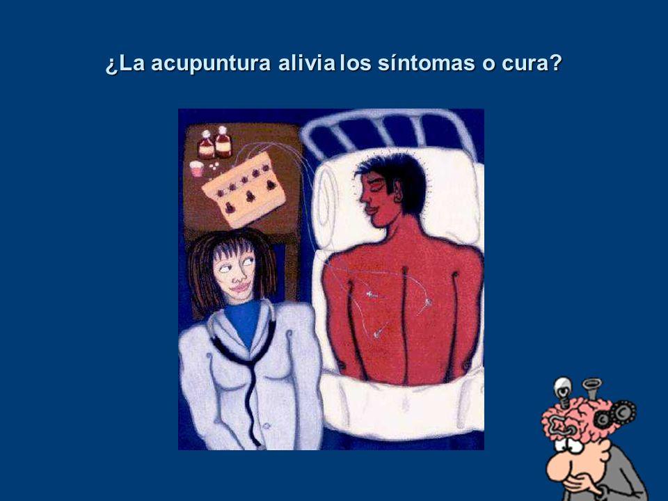 ¿La acupuntura alivia los síntomas o cura?