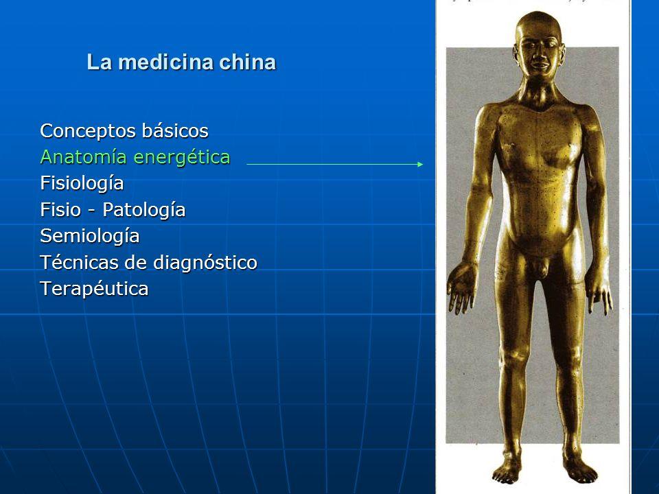 La medicina china La medicina china Conceptos básicos Anatomía energética Fisiología Fisio - Patología Semiología Técnicas de diagnóstico Terapéutica