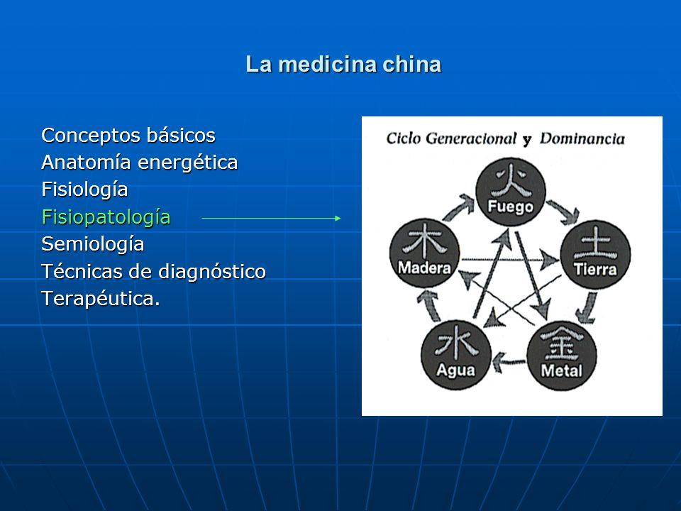 La medicina china La medicina china Conceptos básicos Anatomía energética FisiologíaFisiopatologíaSemiología Técnicas de diagnóstico Terapéutica.