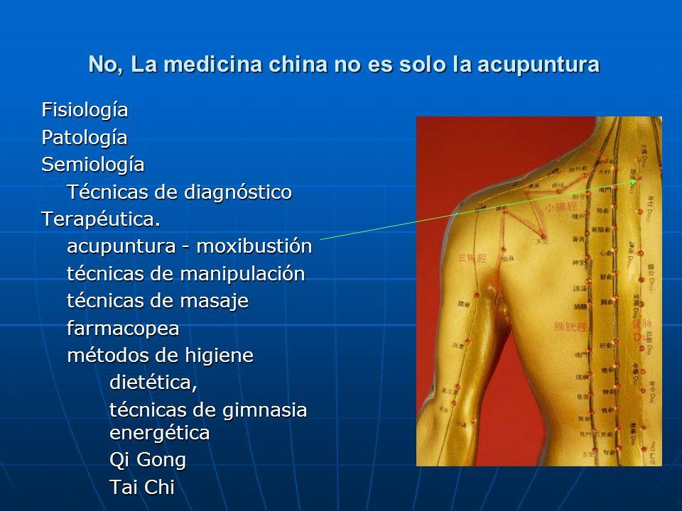 La medicina china Conceptos básicos Anatomía energética Fisiología Fisio patología Semiología - Diagnoóstico Técnicas de diagnóstico Terapéutica Acupuntura – electroacupuntura.