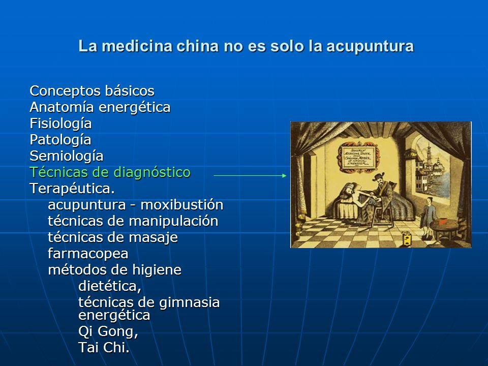 La medicina china no es solo la acupuntura La medicina china no es solo la acupuntura Conceptos básicos Anatomía energética FisiologíaPatologíaSemiolo