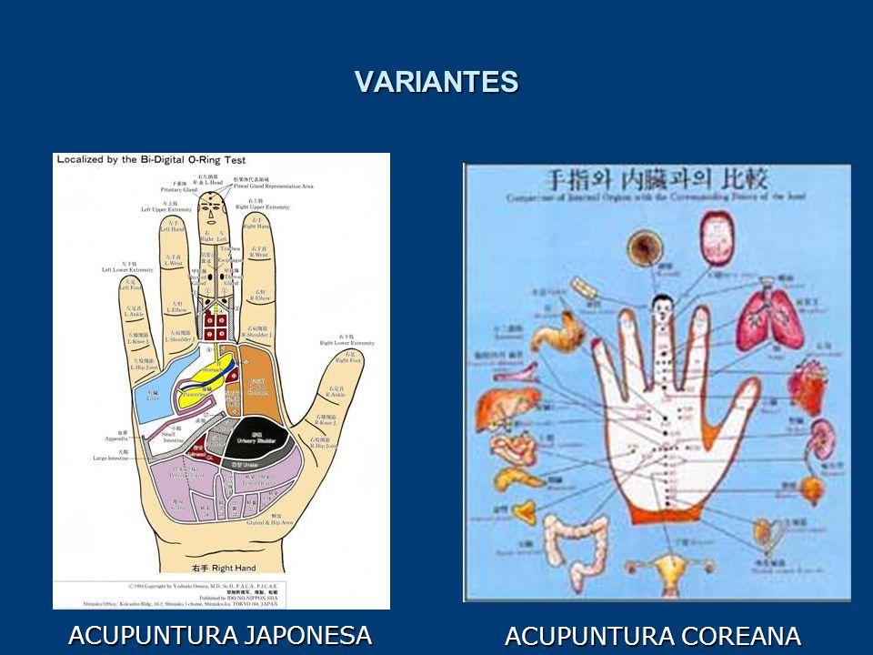 ACUPUNTURA COREANA VARIANTES ACUPUNTURA JAPONESA