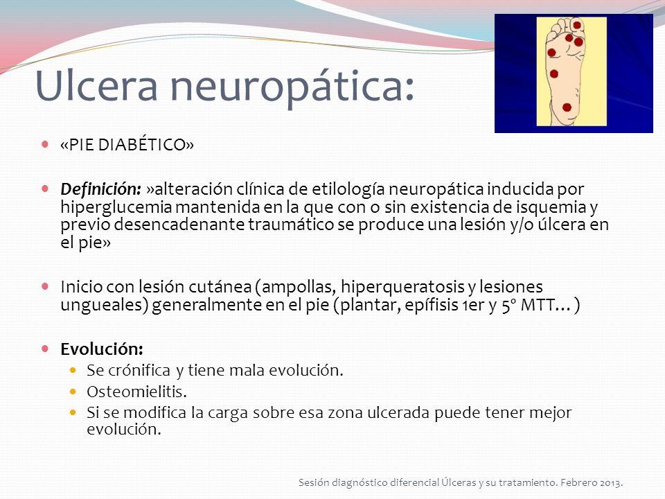 Tratamiento úlceras neuropáticas: Control metabólico.