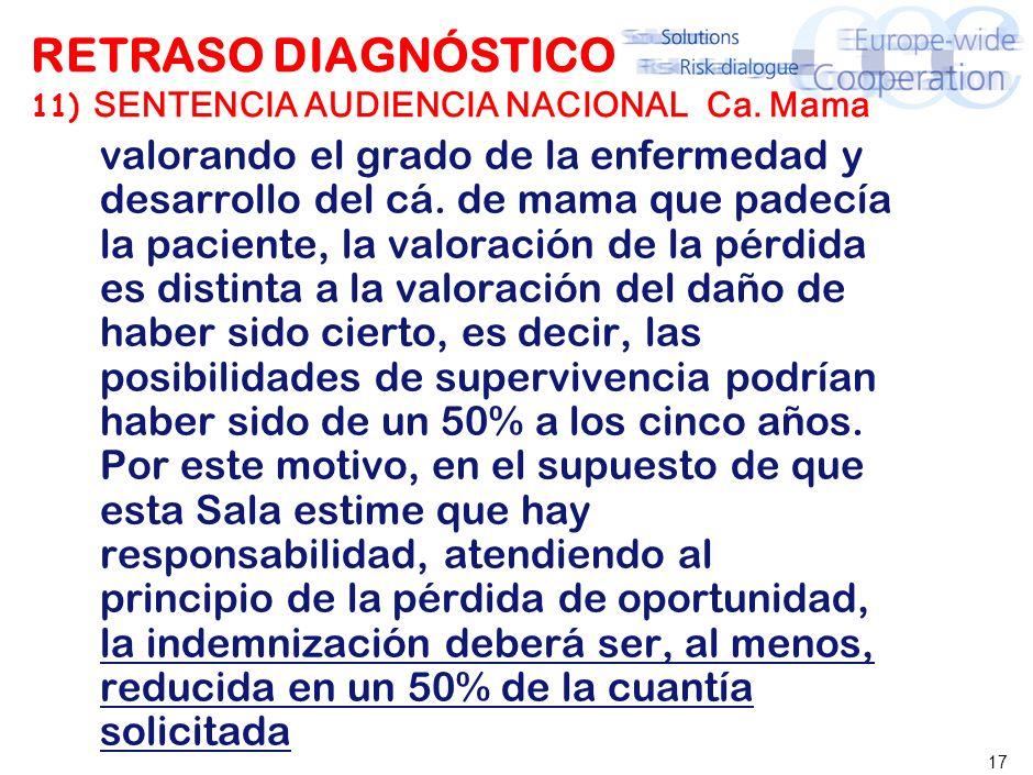 17 RETRASO DIAGNÓSTICO 11) SENTENCIA AUDIENCIA NACIONAL Ca.