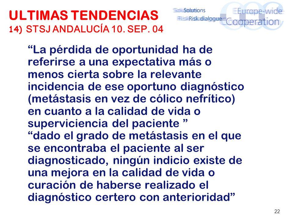22 ULTIMAS TENDENCIAS 14) STSJ ANDALUCÍA 10.SEP.