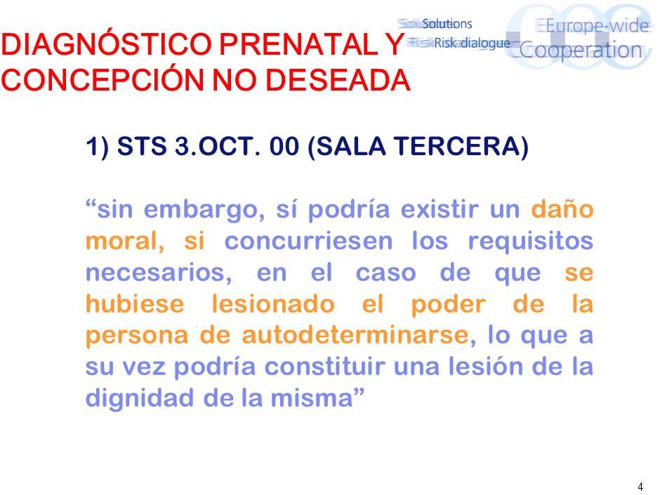 4 DIAGNÓSTICO PRENATAL Y CONCEPCIÓN NO DESEADA 1) STS 3.OCT.