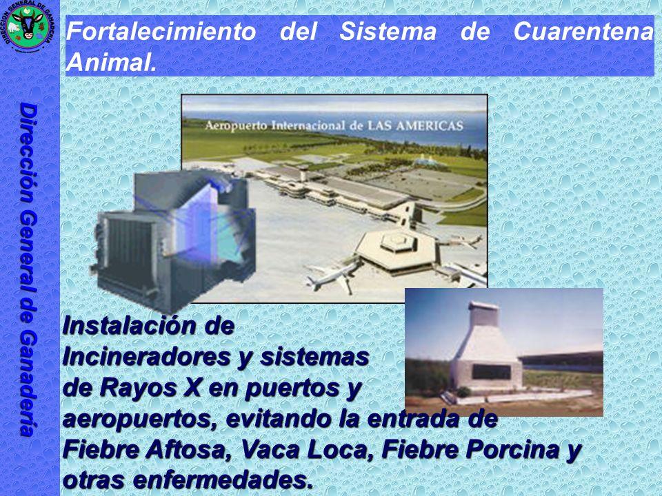 Fortalecimiento del Sistema de Cuarentena Animal. Para evitar la entrada de enfermedades exóticas a la República Dominicana.