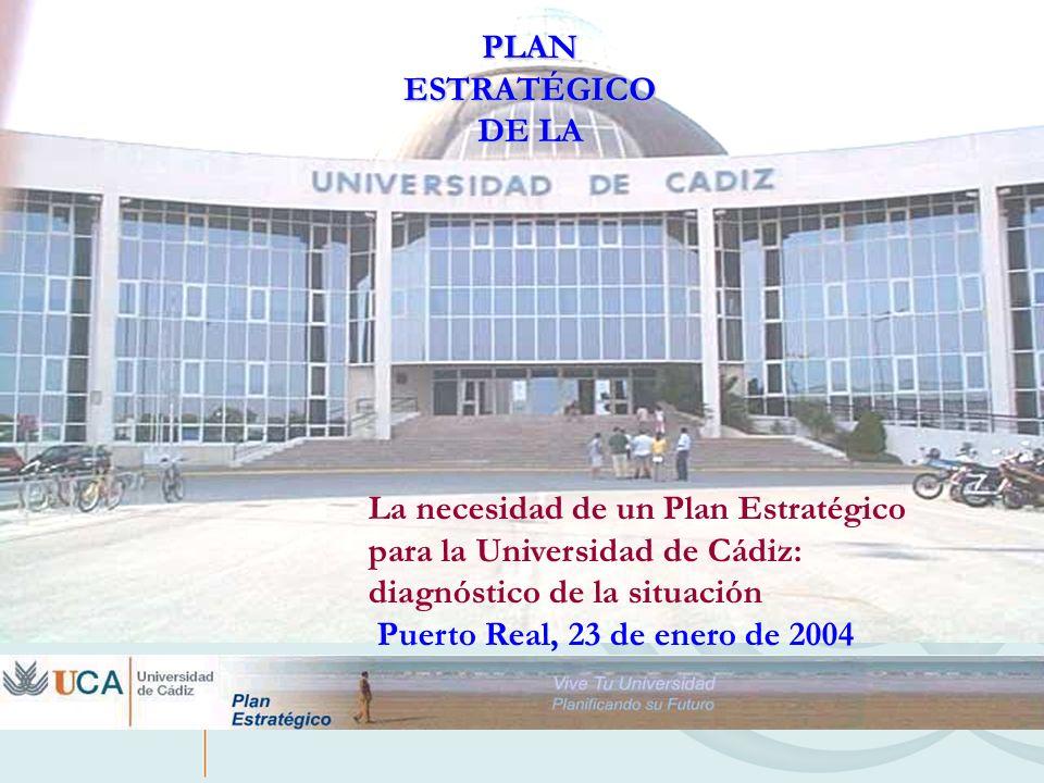 Objetivo general El Plan Estratégico quiere ser el catalizador de un cambio profundo de nuestra Universidad y una herramienta para la modernización del trabajo universitario, colectivo e individual.