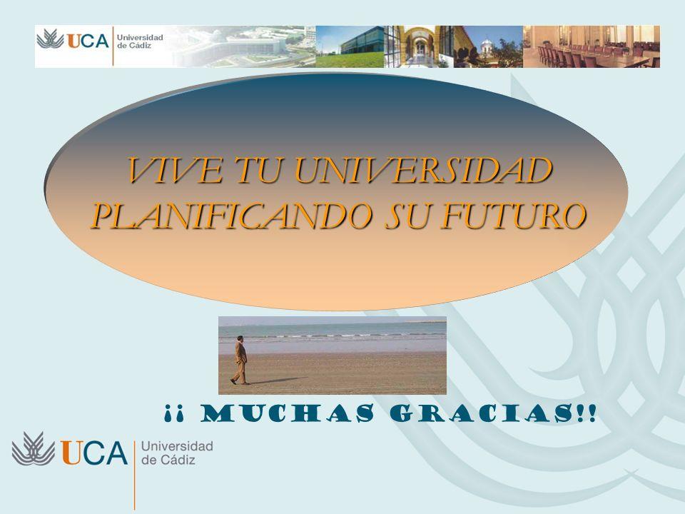 VIVE TU UNIVERSIDAD PLANIFICANDO SU FUTURO ¡¡ MUCHAS GRACIAS!!