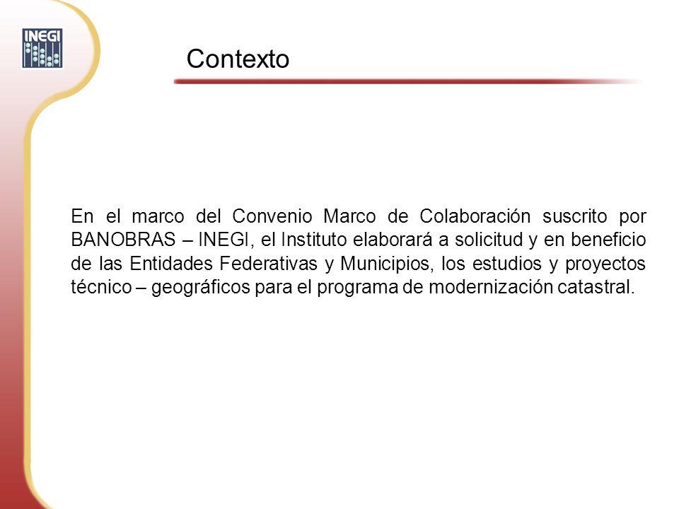 Los servicios que el INEGI prestará a Estados y Municipios son: Estudios y proyectos o Elaborar el Diagnóstico y Plan de Acción.