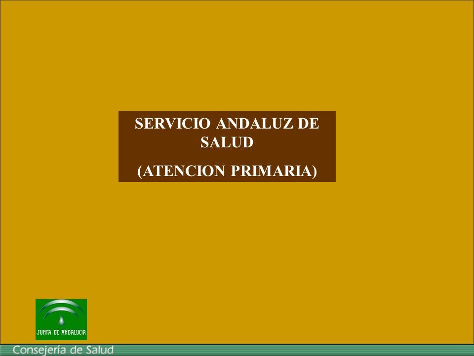 SERVICIO ANDALUZ DE SALUD (ATENCION PRIMARIA)