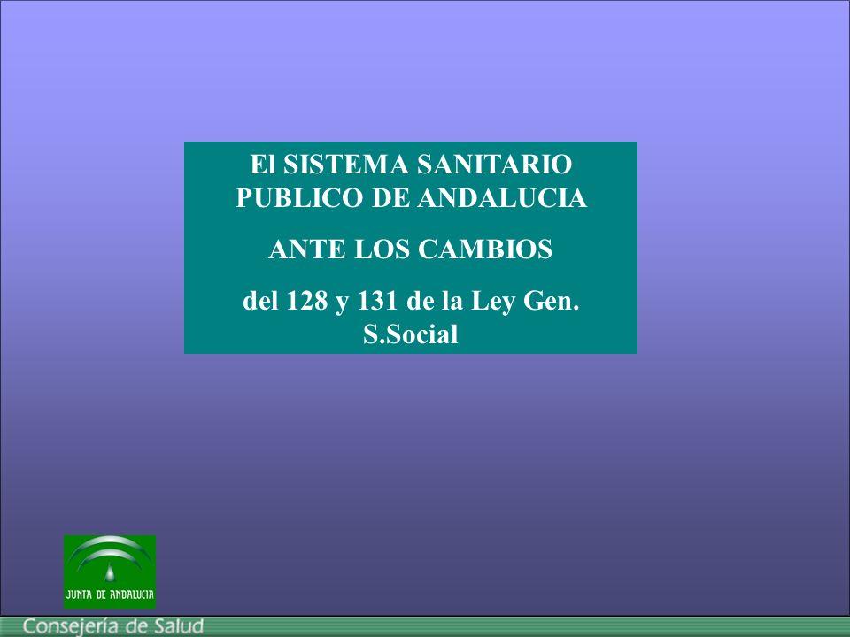 El SISTEMA SANITARIO PUBLICO DE ANDALUCIA ANTE LOS CAMBIOS del 128 y 131 de la Ley Gen. S.Social