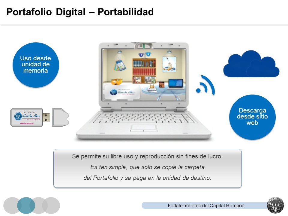 Fortalecimiento del Capital Humano Portafolio Digital – Portabilidad Se permite su libre uso y reproducción sin fines de lucro. Es tan simple, que sol