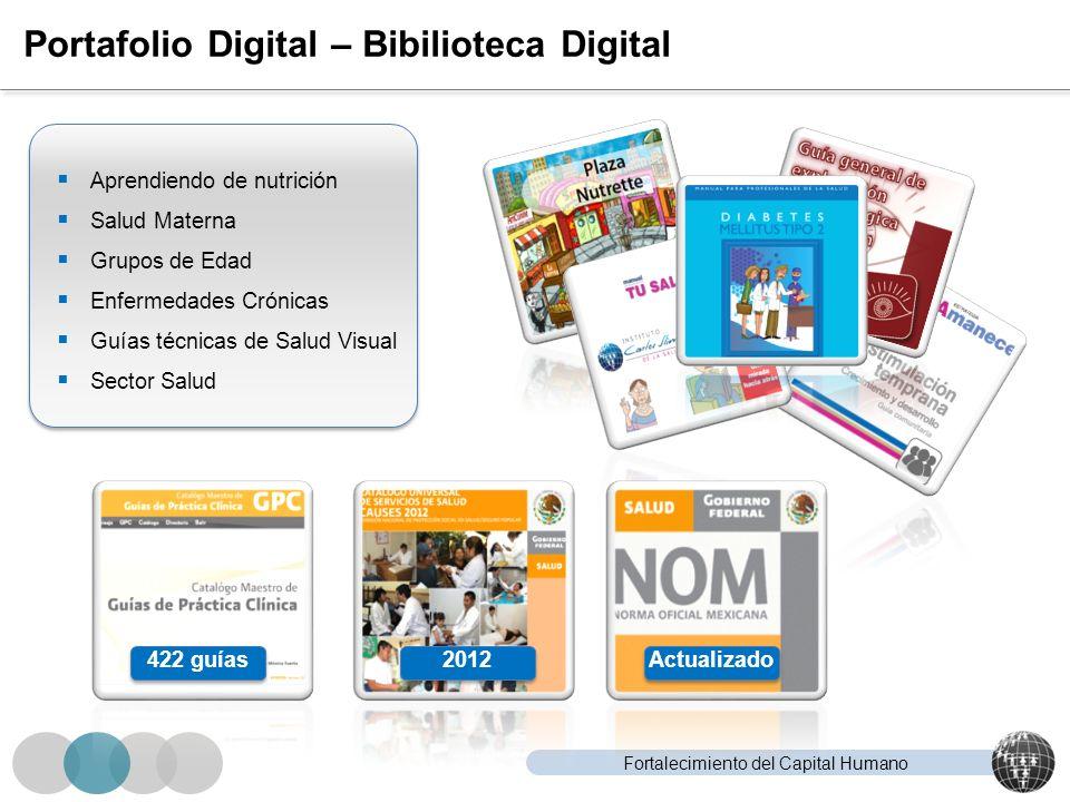 Fortalecimiento del Capital Humano Portafolio Digital – Bibilioteca Digital Aprendiendo de nutrición Salud Materna Grupos de Edad Enfermedades Crónica