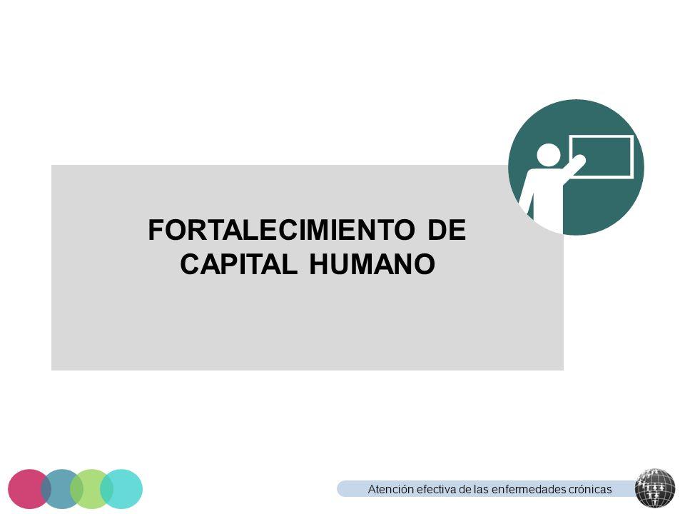 Atención efectiva de las enfermedades crónicas FORTALECIMIENTO DE CAPITAL HUMANO