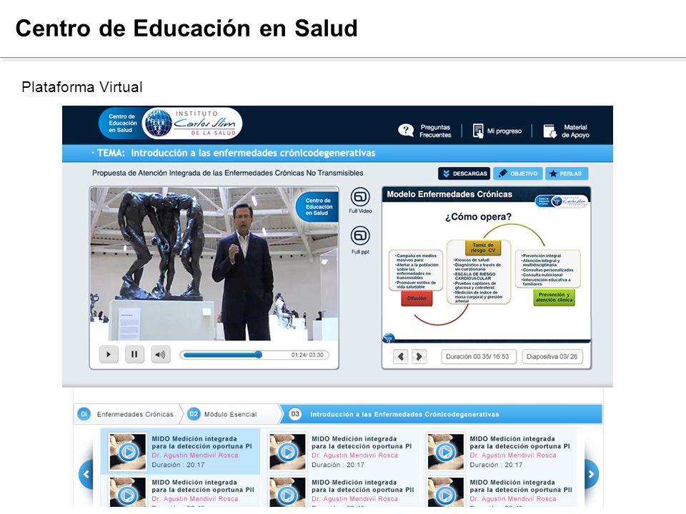 Fortalecimiento del Capital Humano Centro de Educación en Salud Plataforma Virtual