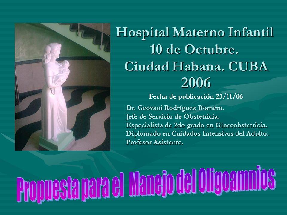 Hospital Materno Infantil 10 de Octubre.Ciudad Habana.